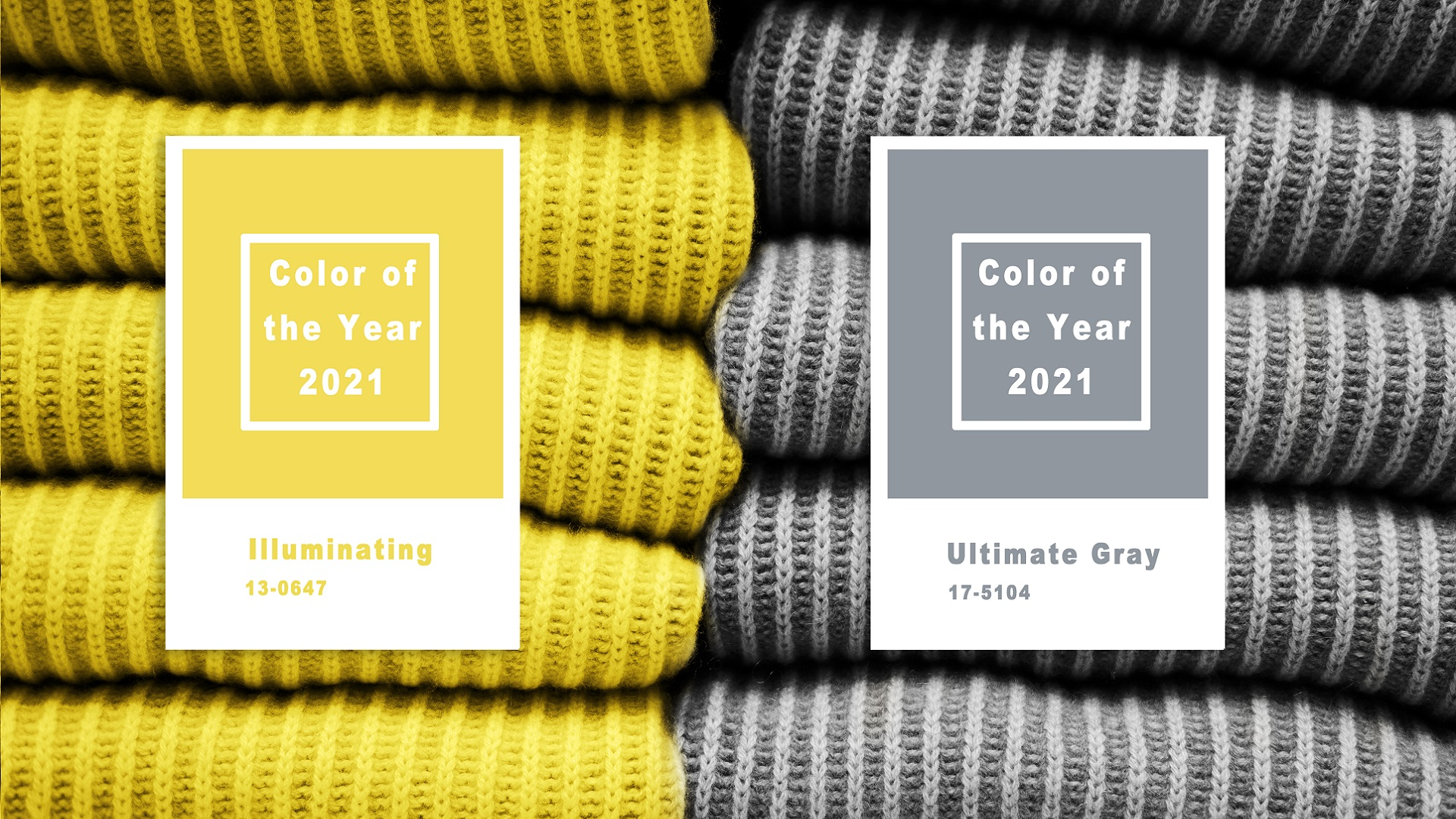 Los colores de Pantone para 2021: Illuminating y Ultimate Grey