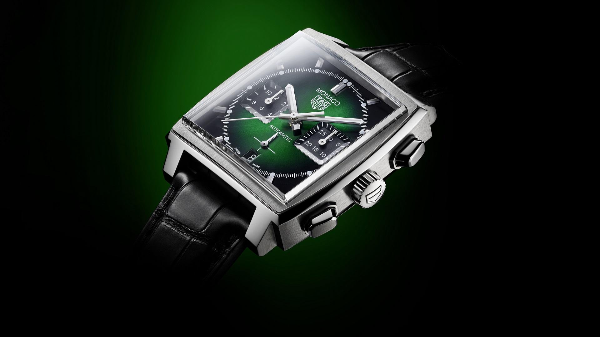 Tag Heuer presenta el nuevo reloj Monaco Green Dial