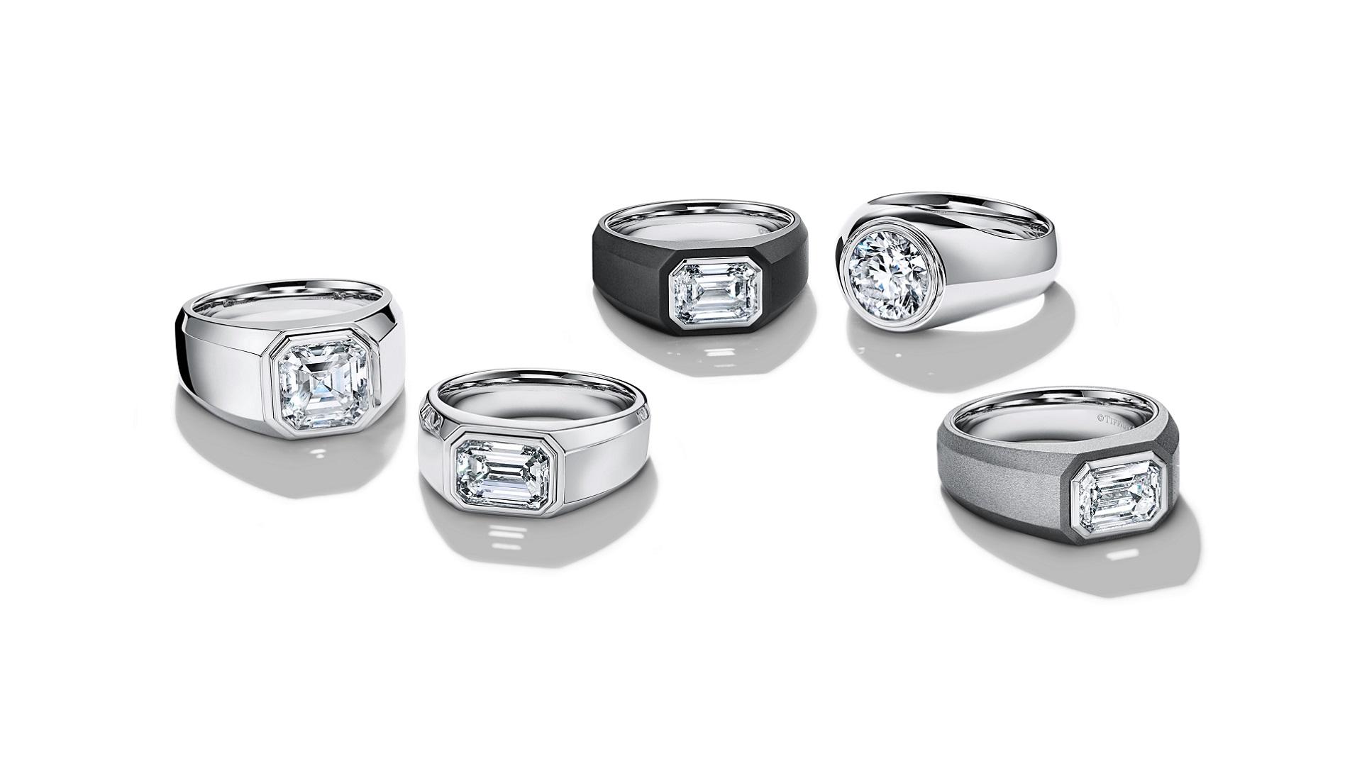 Charles, el primer anillo de compromiso de Tiffany & Co para hombre